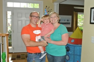 Our family at my son's 2nd birthday party!